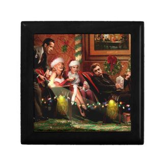 Christmas Interlude Small Square Gift Box