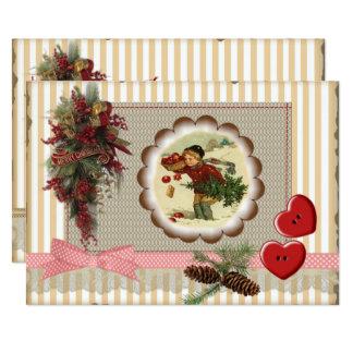 Christmas invitation 2017 style scrapbooking