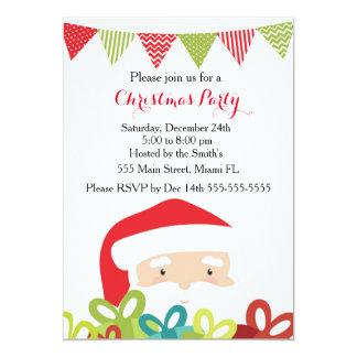 Christmas Invitation Santa Claus Gifts