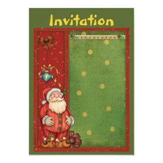 Christmas invitation with cute Santa Claus