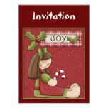 Christmas invitation with little girl