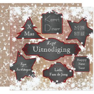 Christmas invitations hippe Christmas card