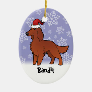Christmas Irish / English / Gordon / R&W Setter Christmas Ornament