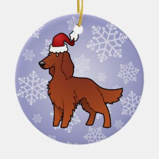 Christmas Irish / English / Gordon / R&W Setter Christmas Ornament