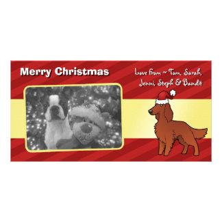 Christmas Irish / English / Gordon / R&W Setter Photo Card Template