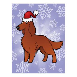Christmas Irish / English / Gordon / R&W Setter Postcard