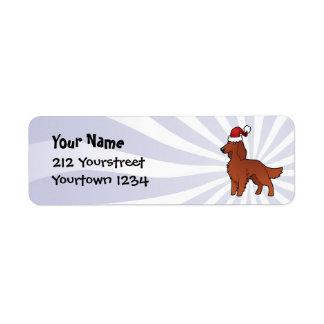 Christmas Irish / English / Gordon / R&W Setter Return Address Label