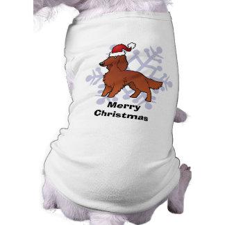 Christmas Irish / English / Gordon / R&W Setter Sleeveless Dog Shirt