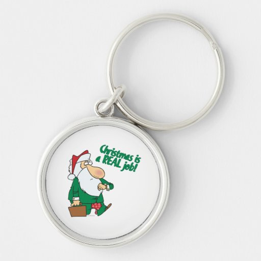 christmas is a real job santa in suit keychain