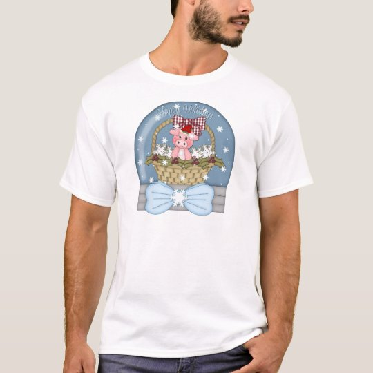 Christmas is for the Pigs - Sweet Pig Snowglobe T-Shirt