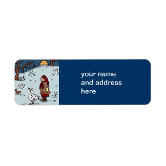 Christmas Is Ukrainian Folk Art Return Address Label