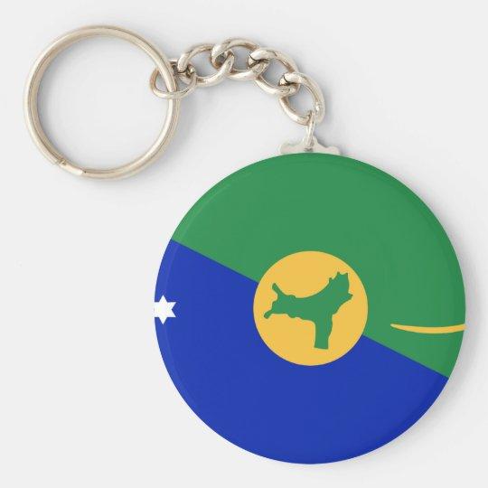 Christmas Island Flag Basic Round Button Key Ring