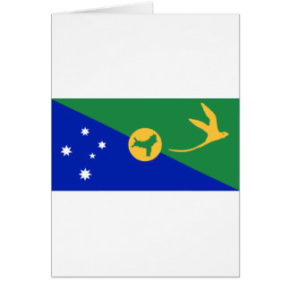 Christmas Island Flag CX Greeting Card