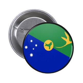 Christmas Island quality Flag Circle Pin