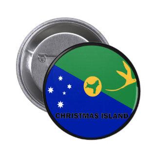 Christmas Island Roundel quality Flag Pin