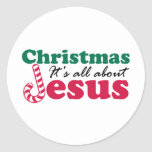 Christmas - It's all about Jesus Round Sticker