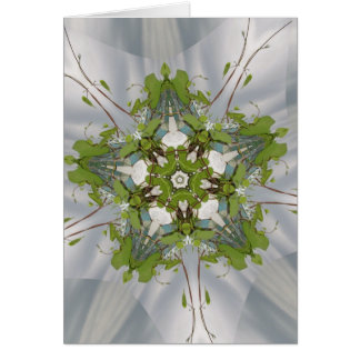 Christmas Ivy Kaleidoscope Star Greeting Card