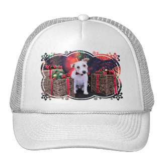 Christmas - Jack Russell - Wiley Trucker Hat