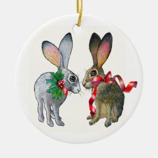 Christmas Jackrabbits Ornament