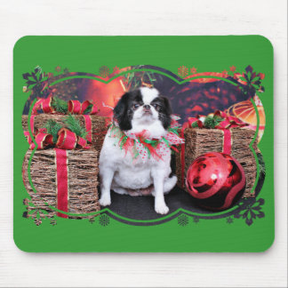 Christmas - Japanese Chin - Oreo Mousepads