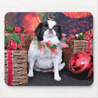 Christmas - Japanese Chin - Oreo Mousepad
