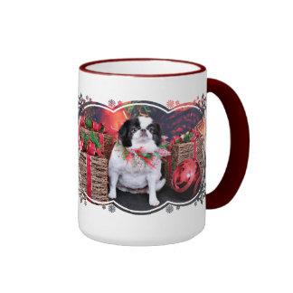 Christmas - Japanese Chin - Oreo Coffee Mugs