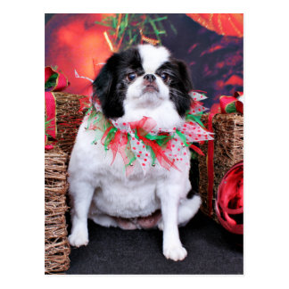 Christmas - Japanese Chin - Oreo Post Card