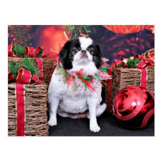 Christmas - Japanese Chin - Oreo Post Cards