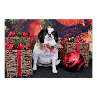 Christmas - Japanese Chin - Oreo Posters