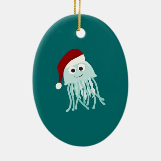 Christmas Jellyfish Christmas Ornament