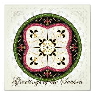 Christmas Jetons 13 Cm X 13 Cm Square Invitation Card