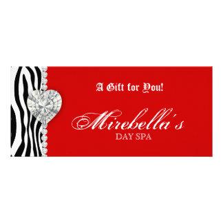 Christmas Jewelry Gift Certificate Zebra Red Rack Card Design