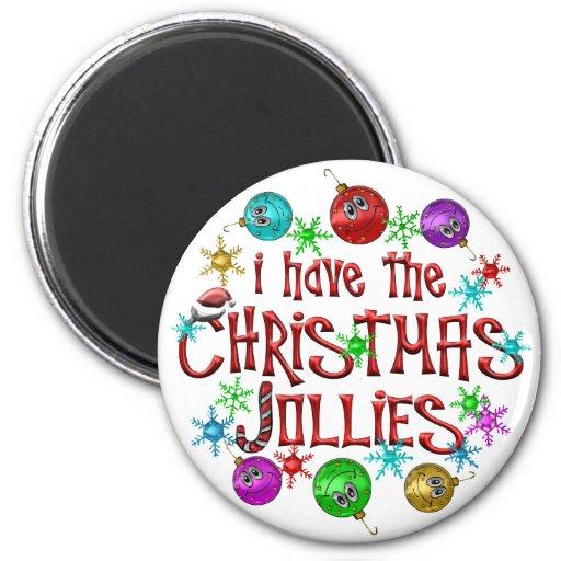 Christmas Jollies Fridge Magnet