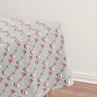 Christmas Jolly Snowmen Deer Holly Cute Patterned Tablecloth