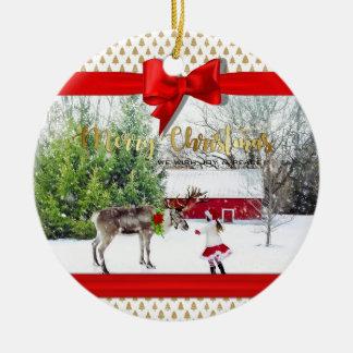 Christmas Joy and Peace Photo Christmas Ornament