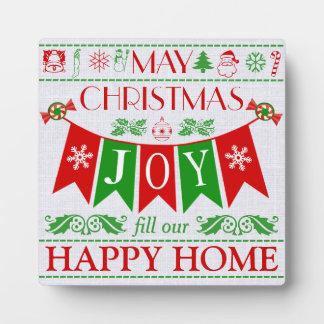 Christmas Joy Banner Text Art Display Plaque
