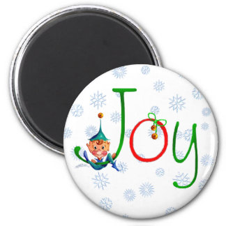CHRISTMAS JOY by SHARON SHARPE 6 Cm Round Magnet