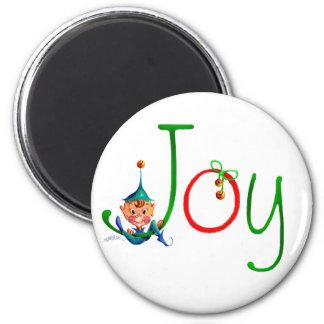 CHRISTMAS JOY by SHARON SHARPE 6 Cm Round Magnet