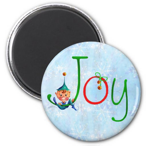 CHRISTMAS JOY by SHARON SHARPE Refrigerator Magnet