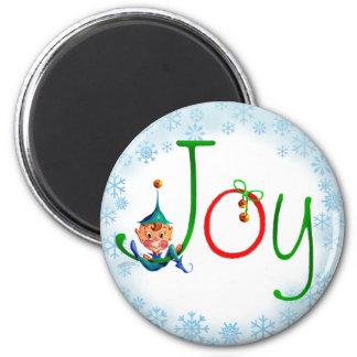 CHRISTMAS JOY by SHARON SHARPE Fridge Magnet