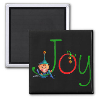 CHRISTMAS JOY by SHARON SHARPE Square Magnet
