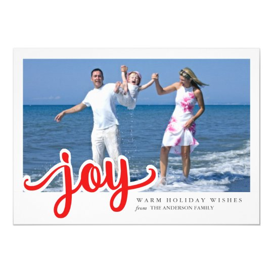Christmas Joy Contemporary Hand Script Photo Card