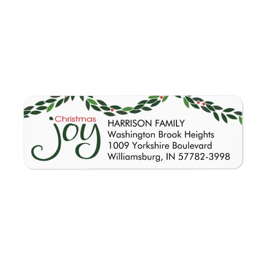 Christmas Joy Garland