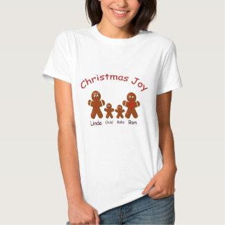 Christmas Joy Gingerbread Family of Four Tees