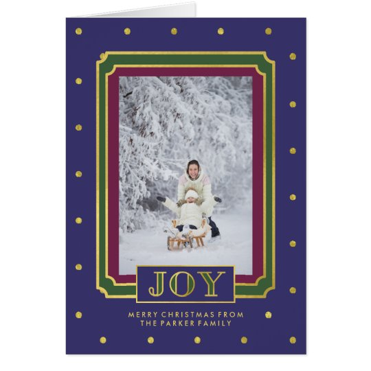 Christmas Joy | Golden Jewel Tones and Photo Card