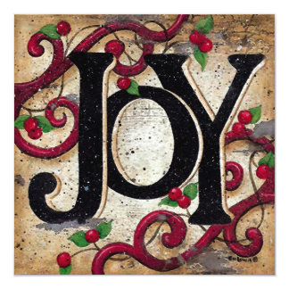 Christmas Joy ~  Invitations Holiday