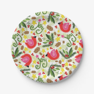 Christmas Joy Paper Plates 7 Inch Paper Plate