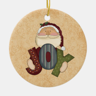 Christmas Joy Santa Ornament