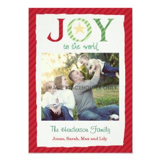 Christmas Joy to the World 13 Cm X 18 Cm Invitation Card