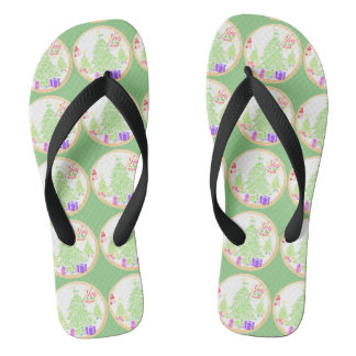 "Christmas ""Joy to the World"" Cookie Flip Flops"